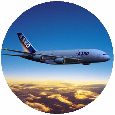 Airbus A380 flying